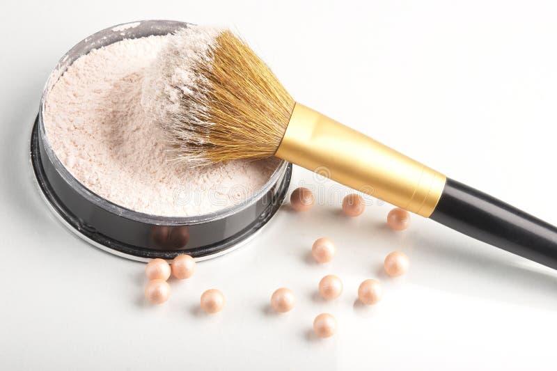 Still life with cosmetics stock photos