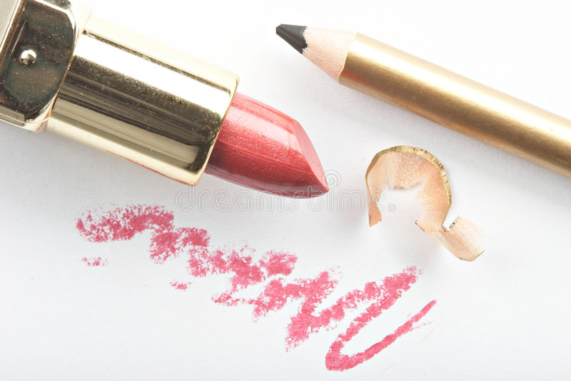 Still life with cosmetics. On the white background stock photo