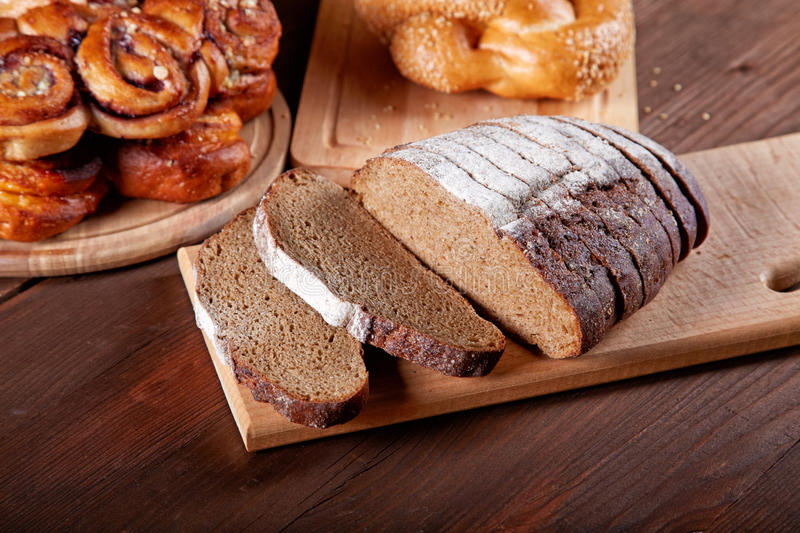 Download Still-life With The Cut Bread And Rolls Stock Image - Image: 31190025