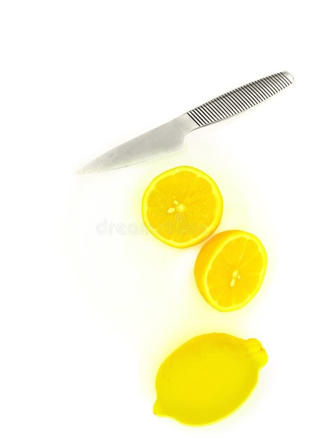 Cut lemon royalty free stock photo