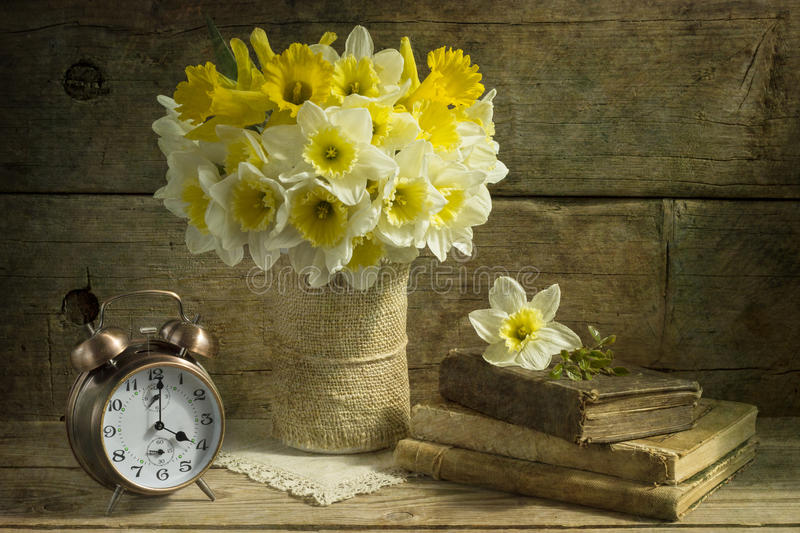 Download Still life with daffodils stock image. Image of flower - 70063645