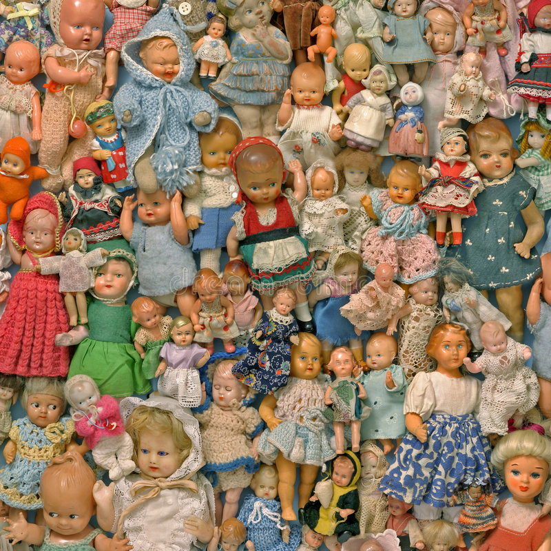 Still life with a dolls royalty free stock image