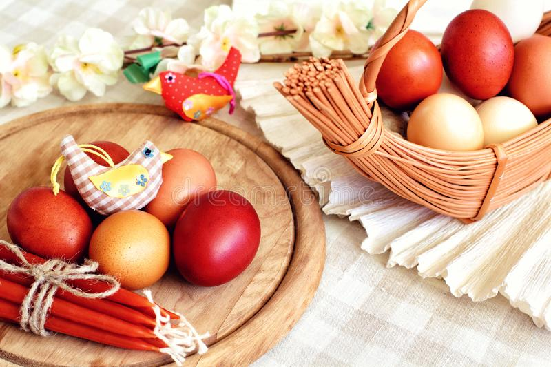 Still life with eggs stock image