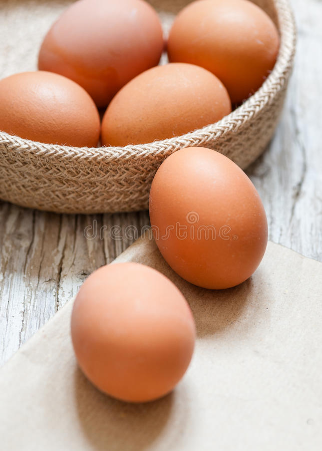Still life of eggs in style rustic royalty free stock photo