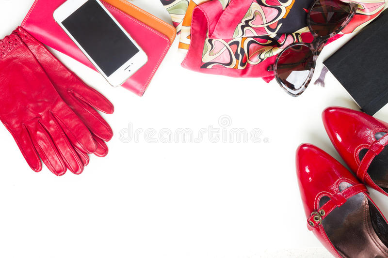 Still life of fashion woman stock images
