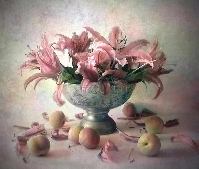 Still life with flowers royalty free stock photography