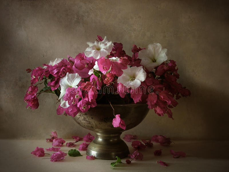 Still life with flowers stock photography
