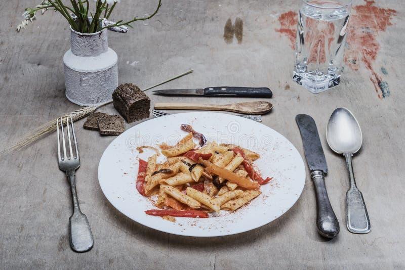 Still life- food pasta stock photos