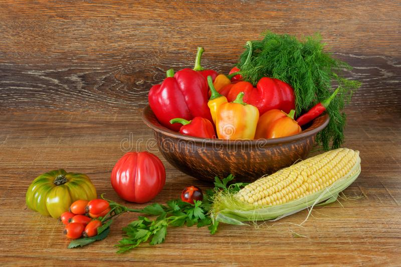 Still-life from fresh vegetables produced by farmers stock photos