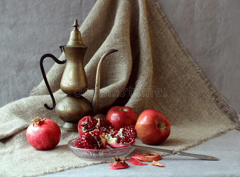 Still life with fruit stock image