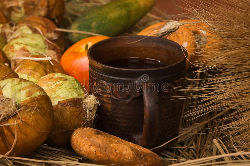 Still Life With Fruit And Vegetables Royalty Free Stock Image