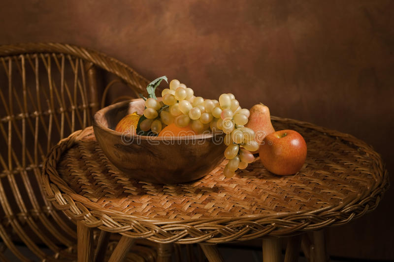 Download Still-life With Fruit In A Wooden Dish Stock Photo - Image: 17109658