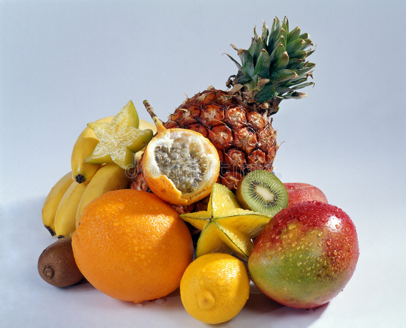 Still life with fruits stock images