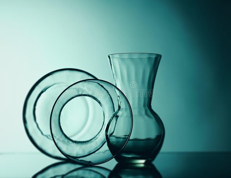 Still life glass. Studio shot royalty free stock images