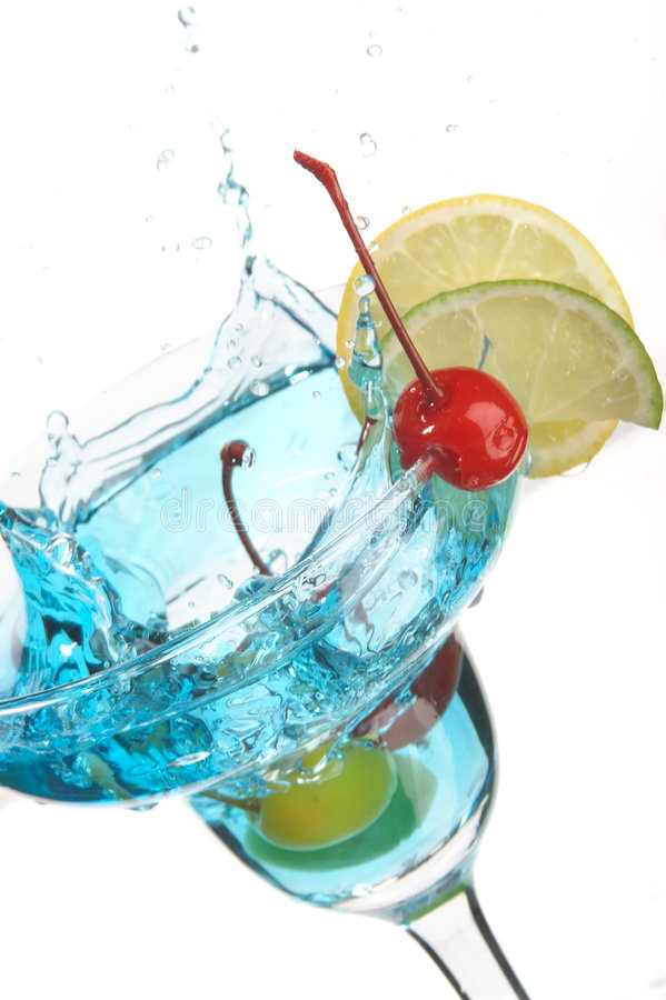 Still life with glass. With drink on the white background stock photo