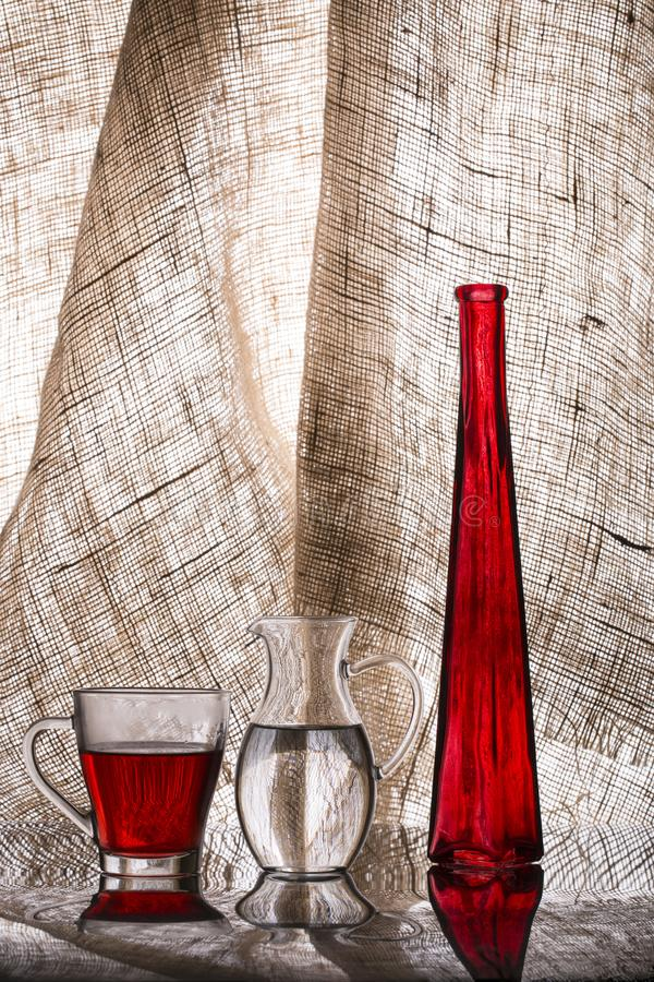 Still Life with Glass Objects.  stock images