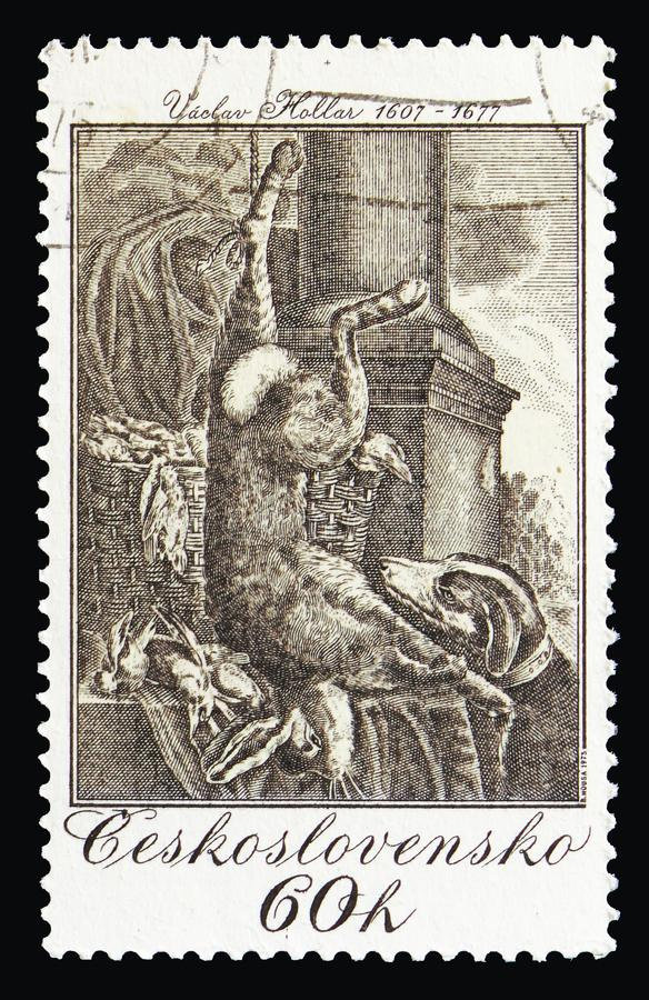 Still-life with hare, by Vaclav Hollar 1649, Hunting themes of royalty free stock image