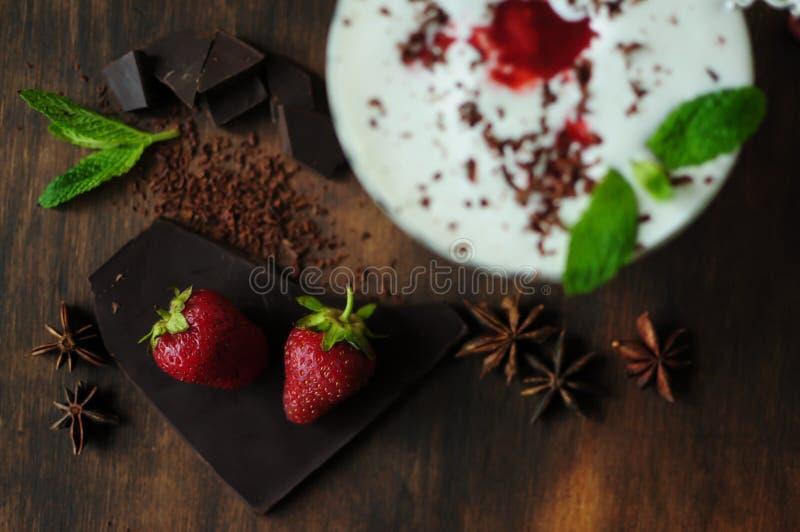 Still life with ice cream stock photography