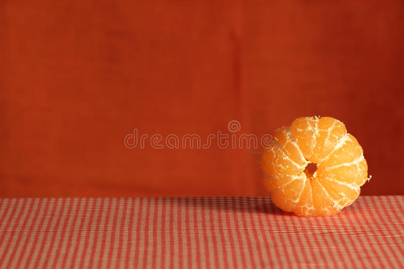 Still life with mandarin. stock photography