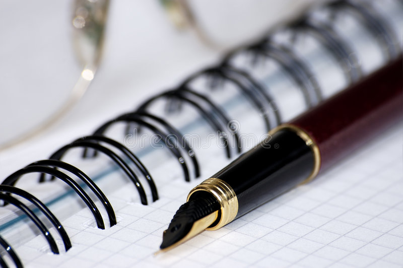 Download Still-life With A Notebook. Stock Photo - Image of documents, instructions: 457422