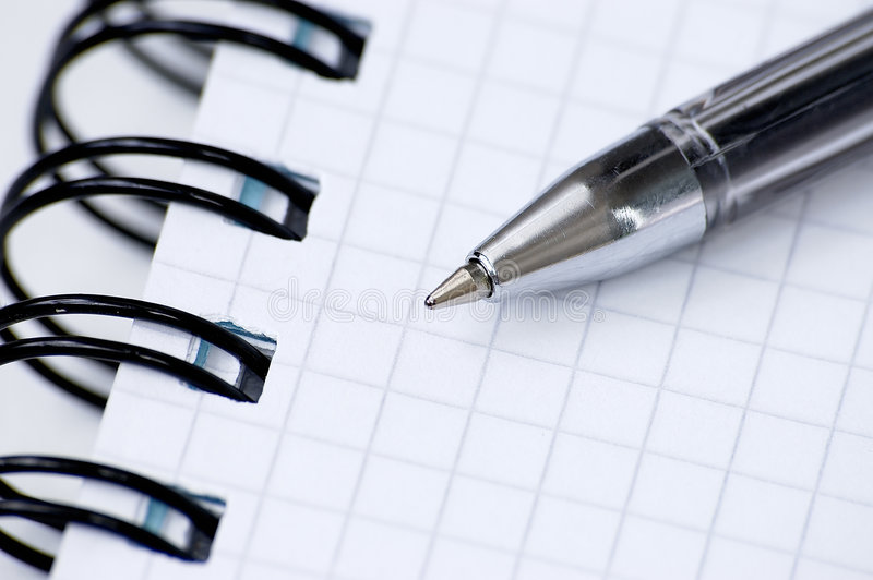 Still-life with a notebook. stock images