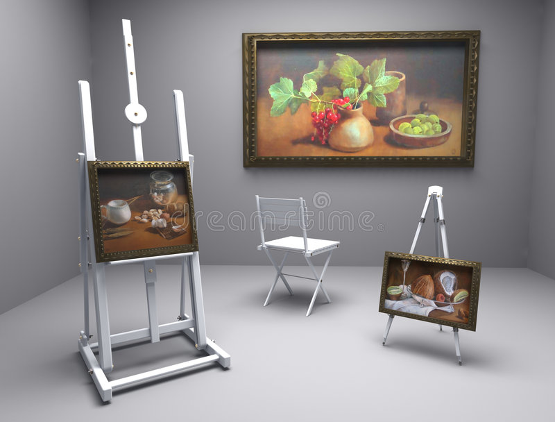 Still Life Oil - Picture 3 Royalty Free Stock Photography