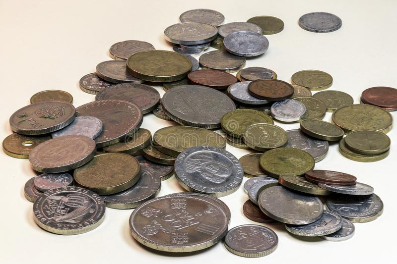 Still life of old coins royalty free stock images
