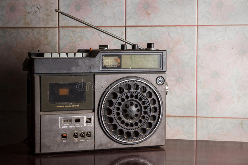 Still life old radio. stock photos