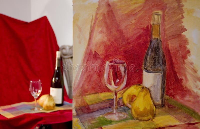 Still Life Painting Royalty Free Stock Images