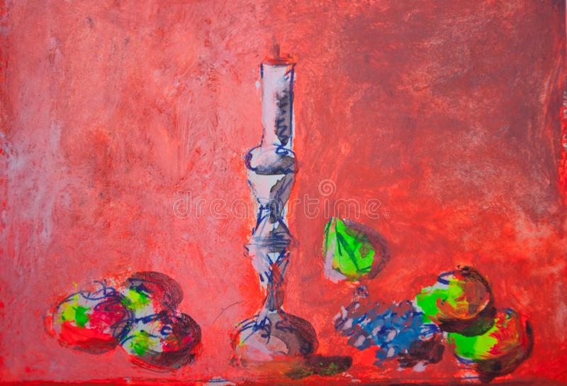Still life painting sketch stock photography