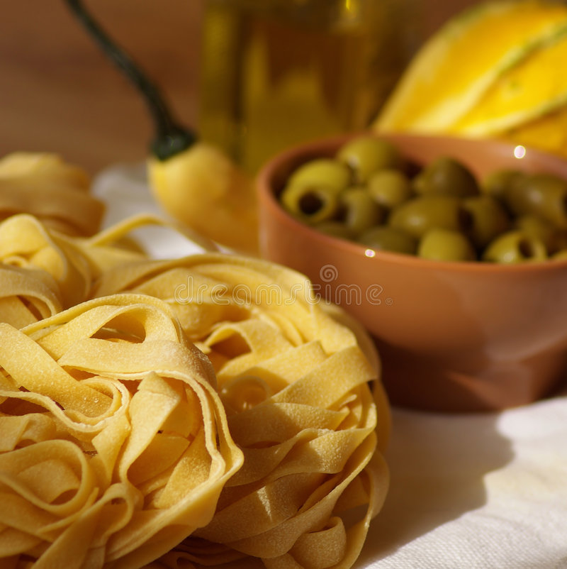 Still life with pasta royalty free stock photos