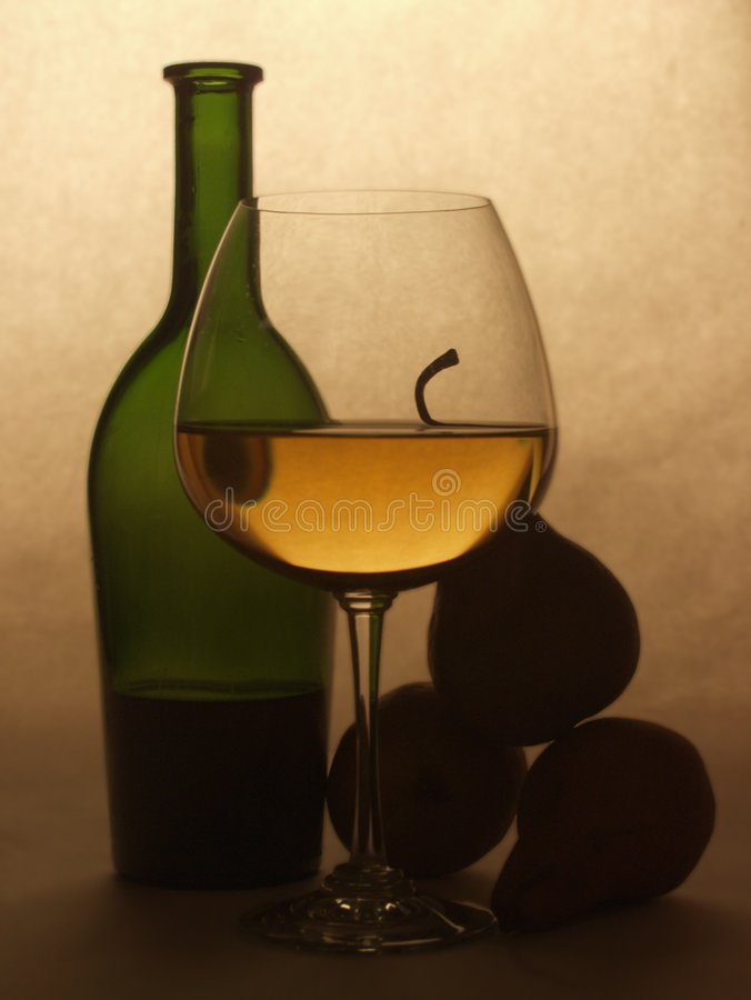 Download Still Life With Pears stock image. Image of cabernet, glass - 198855