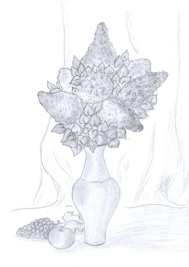Vase Illustration Art