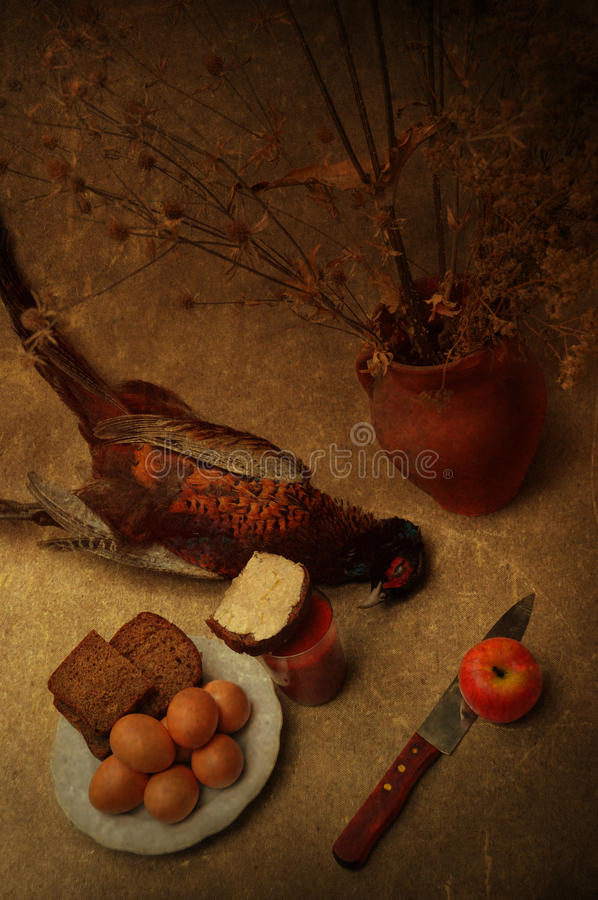 Download Still life with pheasant stock photo. Image of eggs, hunter - 26836644