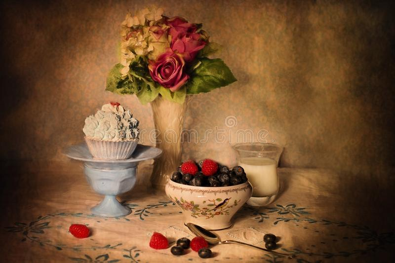 Still Life, Still Life Photography, Painting, Flower stock photo