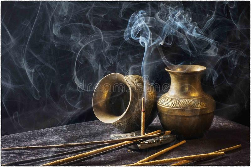 Still Life Photography, Still Life, Smoke, Painting stock image