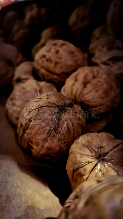 Still life photography with walnuts. stock photography