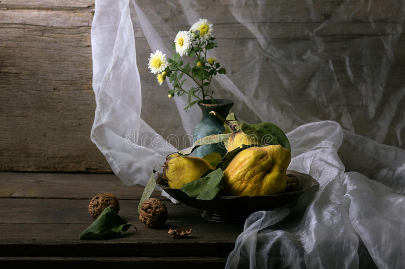 Download Still life with quinces stock photo. Image of greeting - 22209400