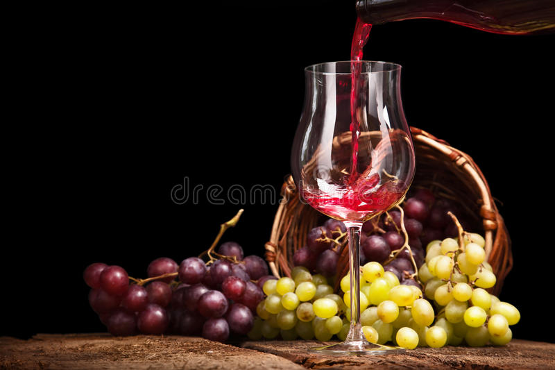 Still life with red grapes royalty free stock image