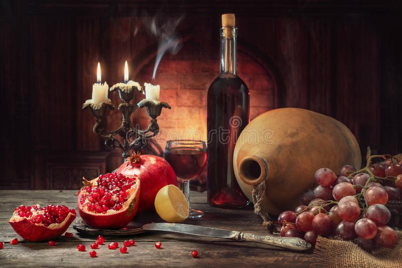 Still life in a rustic style. royalty free stock image