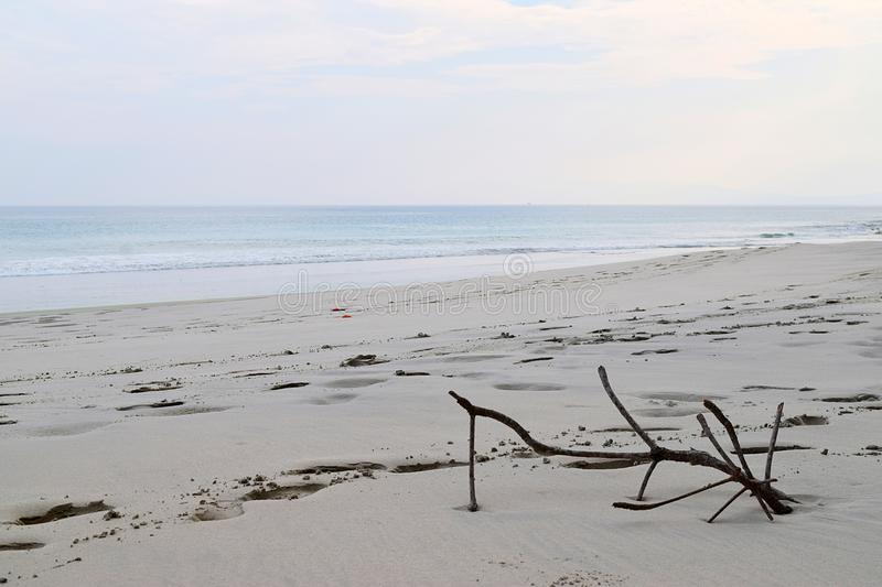 Still Life on A Sandy Seashore - Infinite Peace at Uncrowded Beach stock photography
