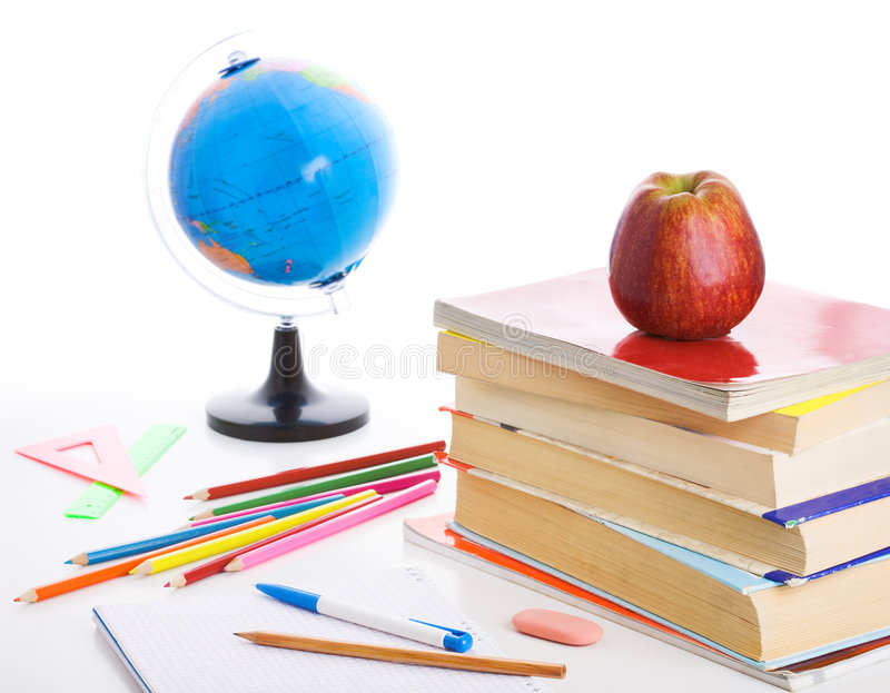 Still-life with school accessories royalty free stock image