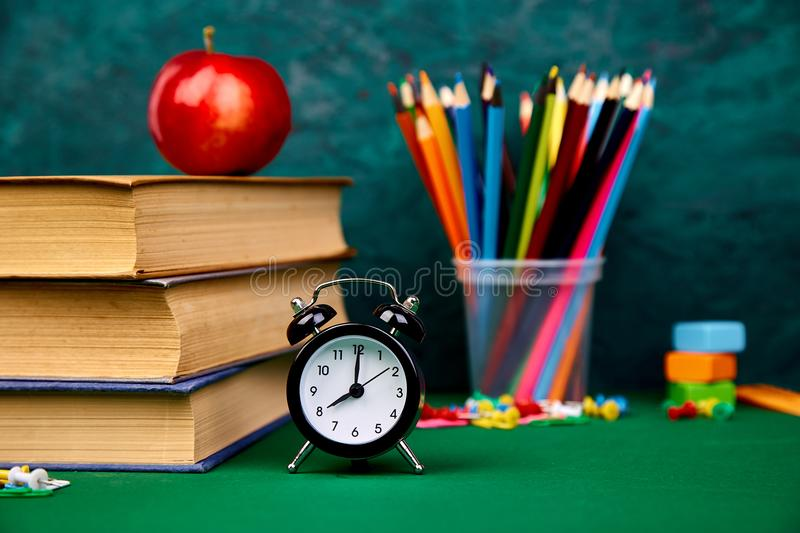 Still life with school books. Back to school royalty free stock photos