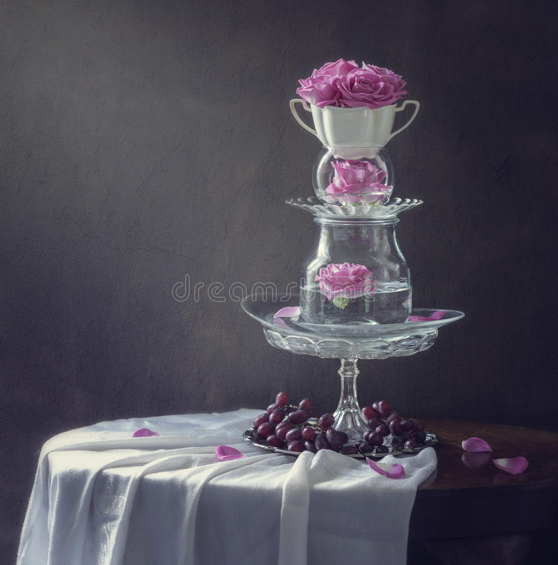 Still life with slide vintage ware royalty free stock photos