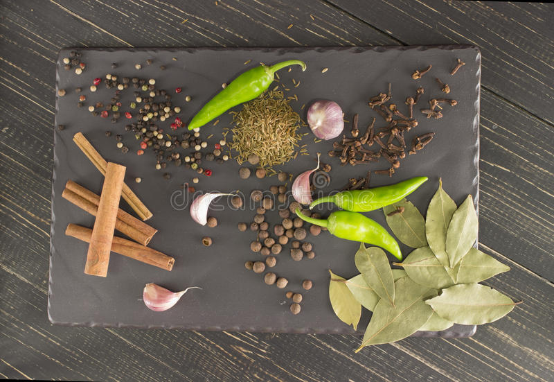 Still life with spices. stock image