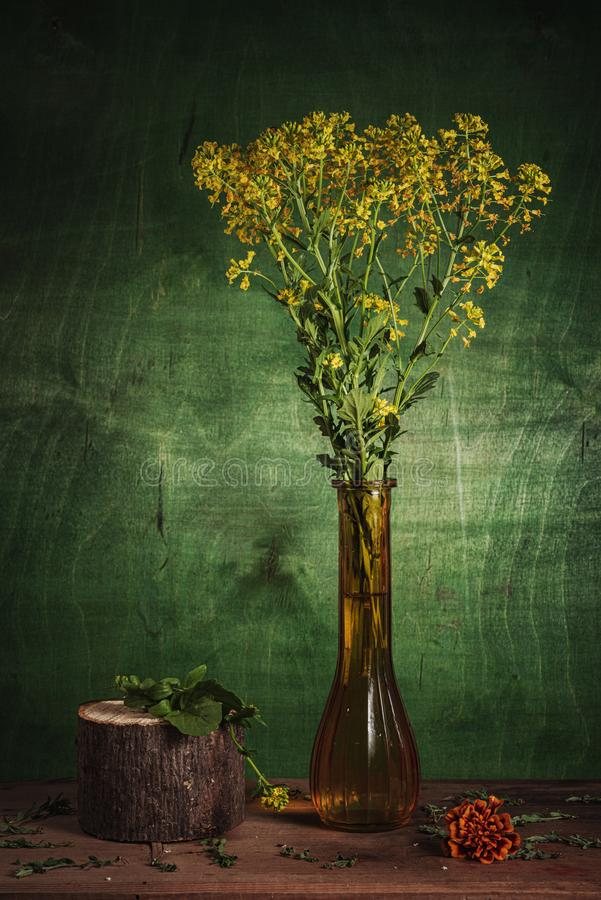 Still life- spring bouquet. Still life- flower bouquet. Style rural- classical concept royalty free stock photos