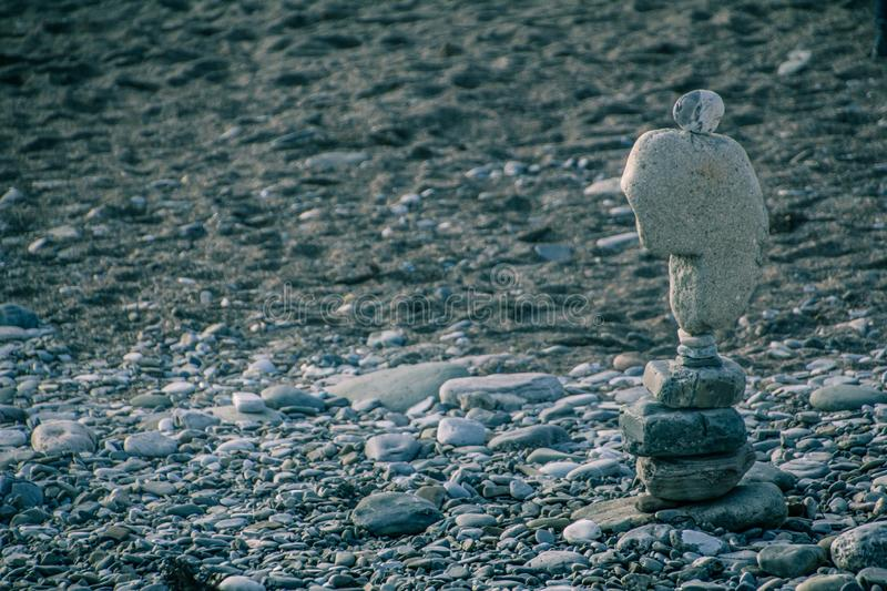 Still life of stones on the beach in Sochi. The exposure of the stones. balance and balance. tracing. seaside stock photos