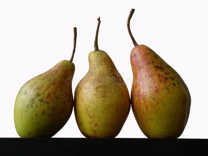 Still life with three pears royalty free stock photos