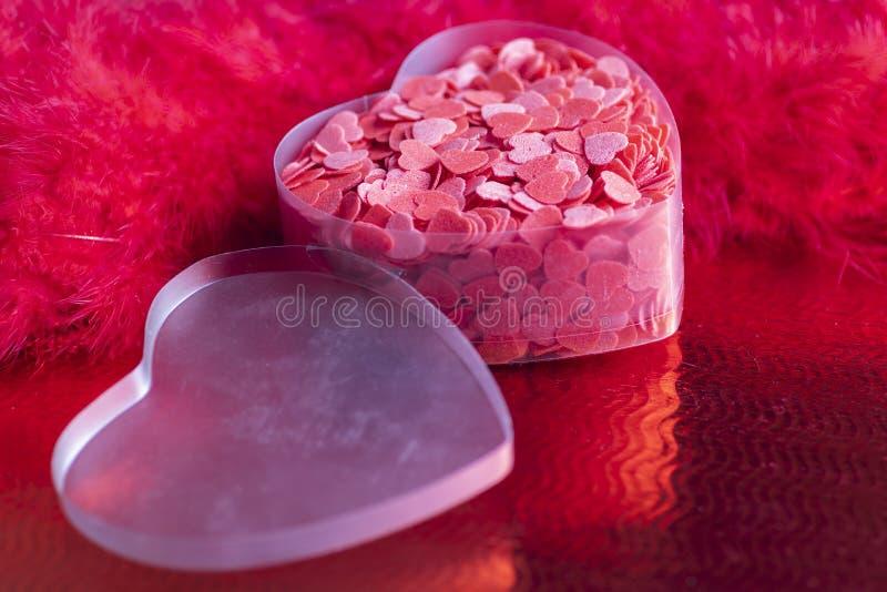 still life of Valentine's decoration royalty free stock image