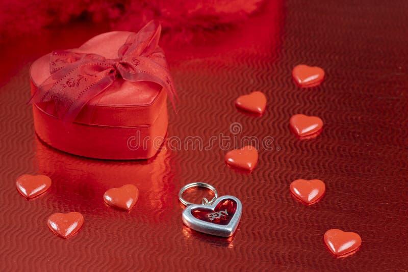 still life of Valentine's decoration royalty free stock photography